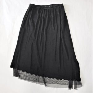 Chicos Travelers Asymmetrical Layered Mesh skirt 2